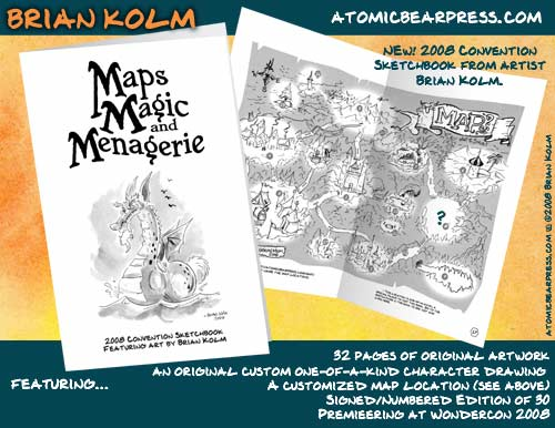 Maps, Magic and Menagerie convention sketchbook 2008