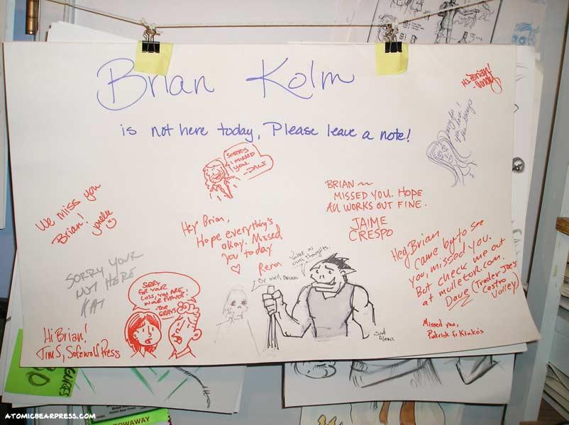 Thanks to my Wondercon 2009 friends.