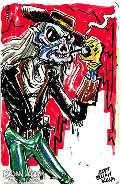 Mash-Up Round-Robin sketchbook 02 zombie